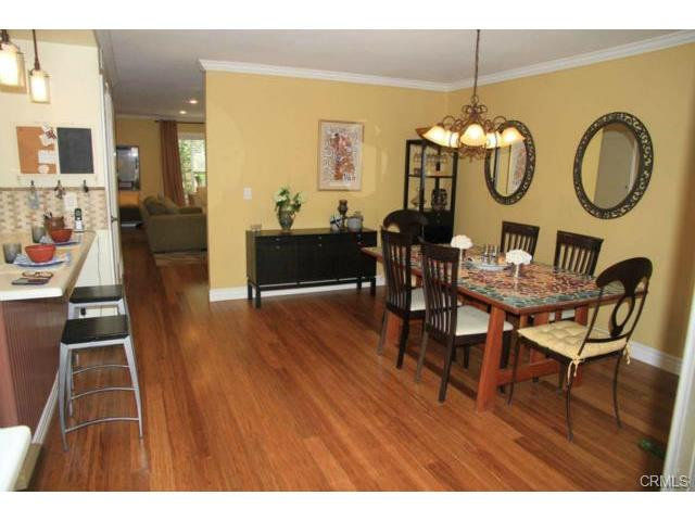 Large dining room near kitchen.