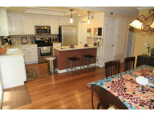 Lovely updated kitchen with stainless steel appliances.